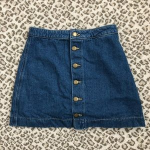 American Apparel Button Up Jean skirt